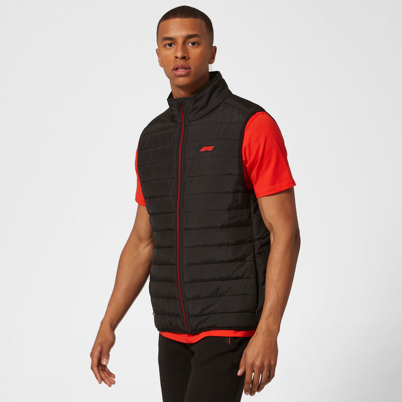 F1 FW TECH PADDED GILET - black