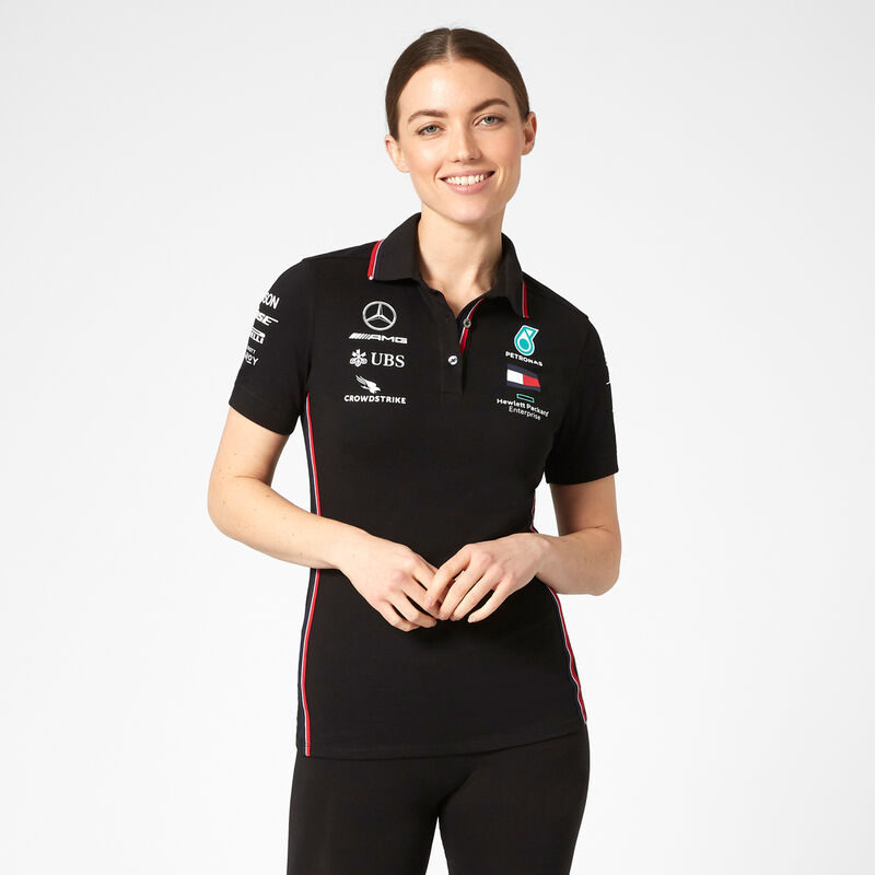 Mercedes Benz AMG Petronas F1 2020 Womens Team Polo Black//White