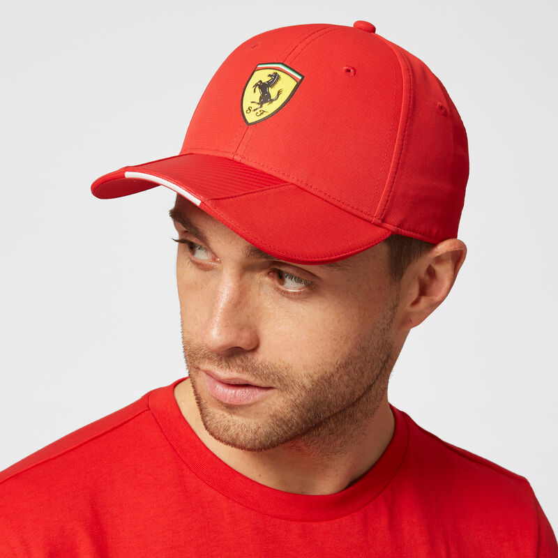 SF FW SCUDETTO CARBON STRIP BB CAP - red