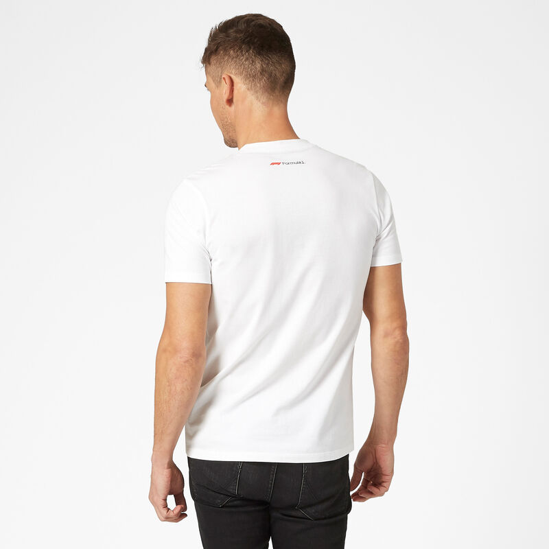 F1 FW MENS CHEST STRIPE TEE - white