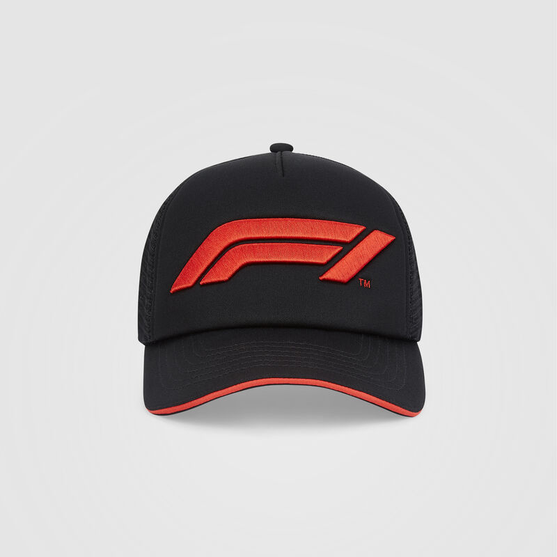 F1 FW LARGE LOGO TRUCKER CAP - black