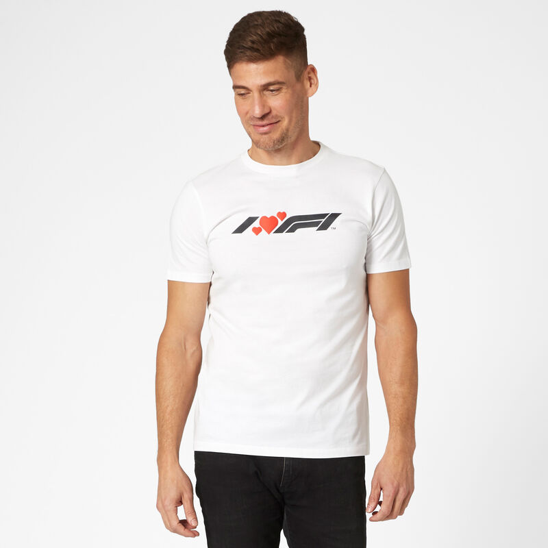 F1 FW MENS I HEART F1 TEE - white