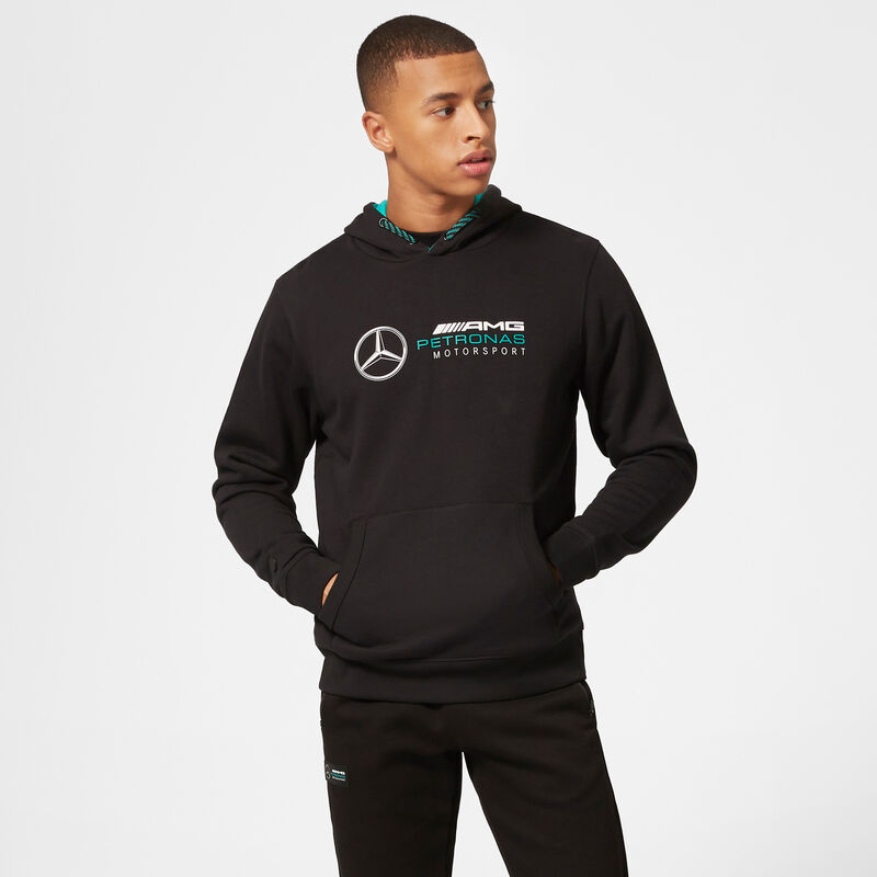 MAPM FW LOGO HOODED SWEAT - black