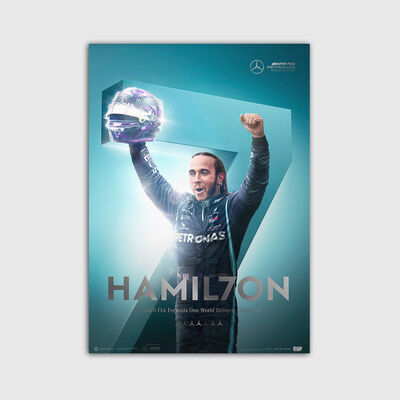Lewis Hamilton 7th Championship Winners Poster - Collectors Edition