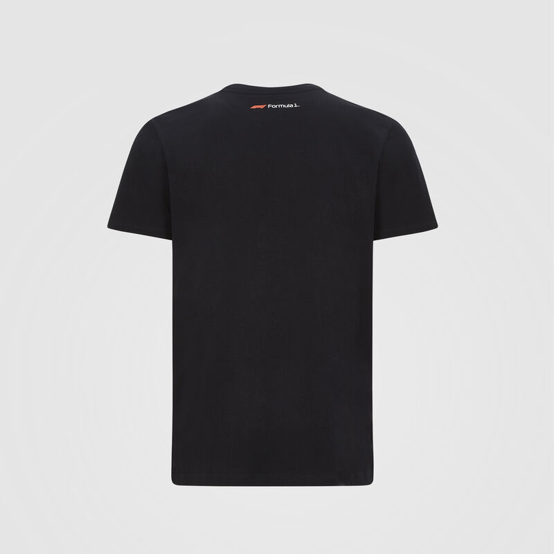 F1 FW MENS LARGE LOGO TEE - black