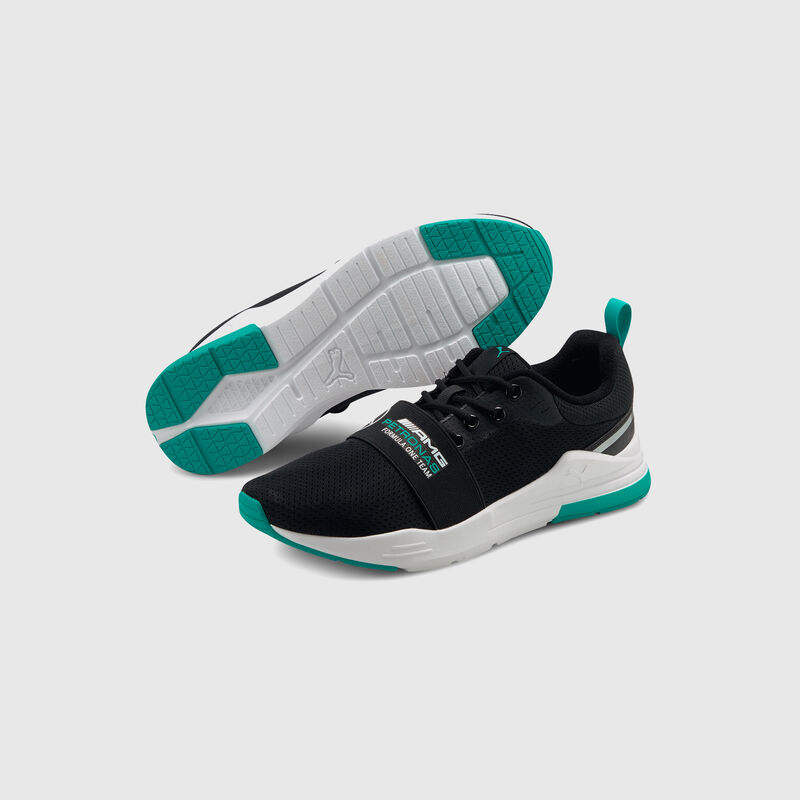 MAPF1 PU LS WIRED RUN TRAINERS - black