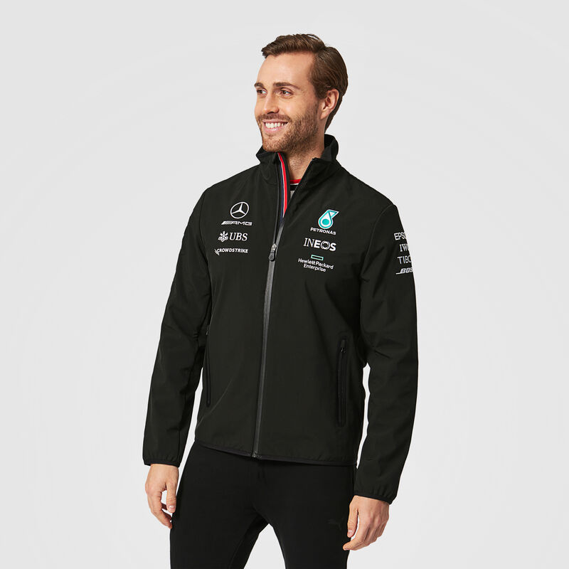 MAPF1 RP MENS SOFTSHELL JACKET - black