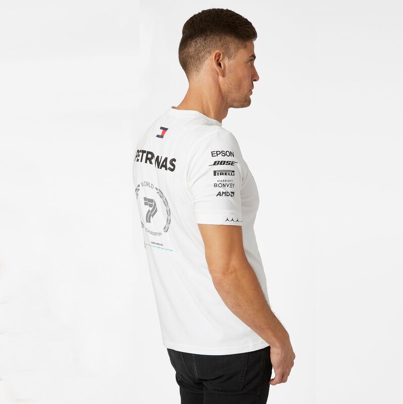 MAPF1 RP MENS LEWIS CHAMPIONSHIP TEE - white