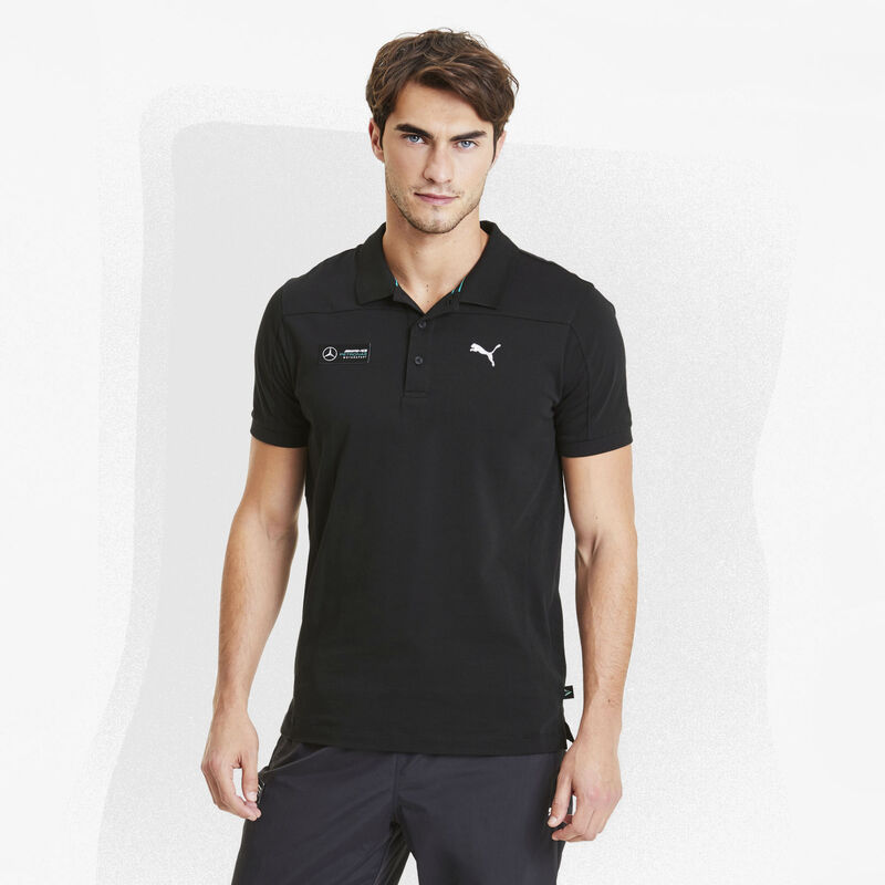 MAPM PU MENS PANEL POLO - black
