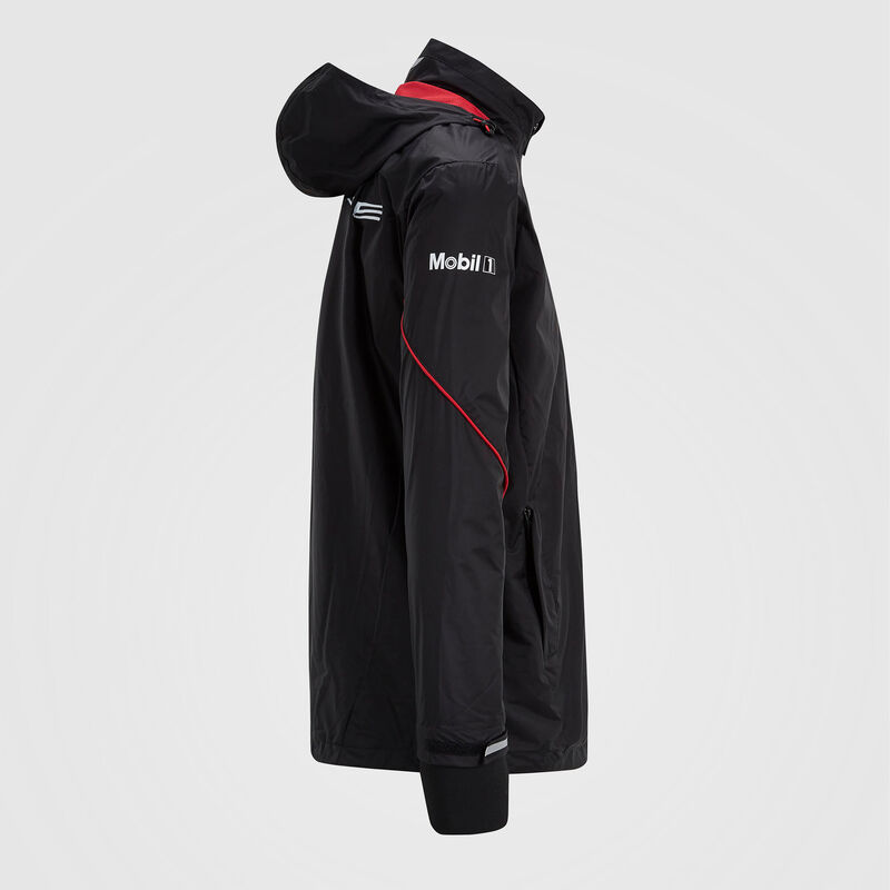 PORSCHE RP UNISEX TEAM RAIN JACKET - black