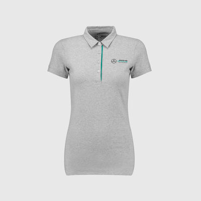 Womens Marl Logo Polo