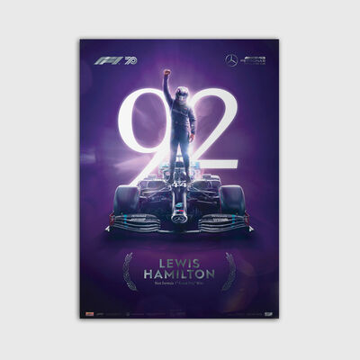 Lewis Hamilton 92nd Winner Poster - Collectors Edition